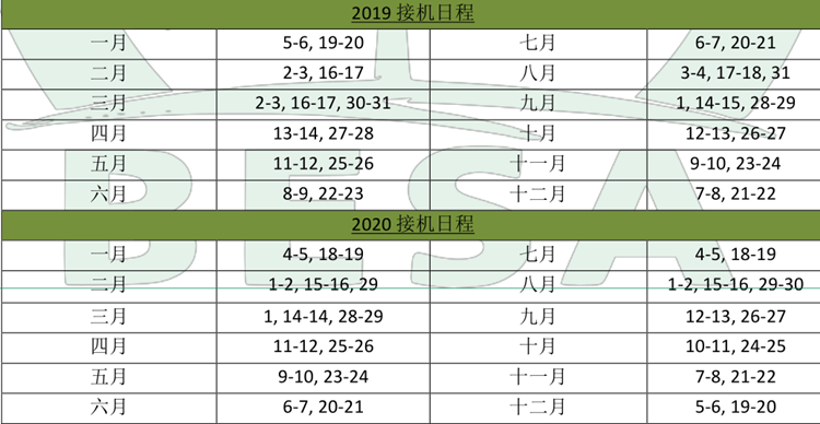 2019-2020菲律宾碧瑶游学官方接机时间安排表